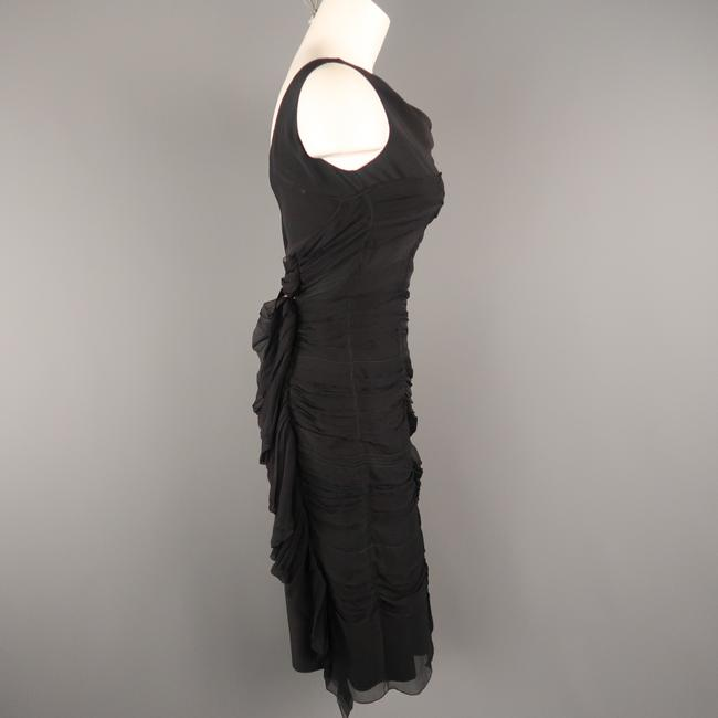 Prada Draped Chiffon Ruched Asymmetrical Dress Image 5