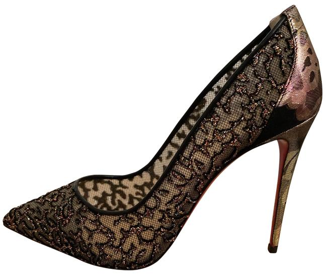 Item - Black Follies Floral Lace and Mesh Pumps Size EU 37.5 (Approx. US 7.5) Narrow (Aa, N)