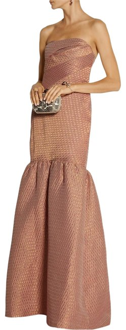 Preload https://img-static.tradesy.com/item/26606957/marchesa-notte-pink-blush-and-gold-strapless-metallic-brocade-gown-long-formal-dress-size-8-m-0-1-650-650.jpg