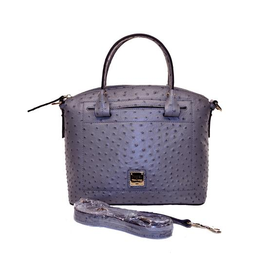Preload https://img-static.tradesy.com/item/26606966/dooney-and-bourke-ostrich-domed-grey-leather-satchel-0-0-540-540.jpg