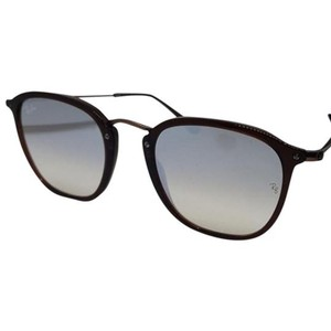 Ray Ban Mirrored Lens Women Square Sunglasses