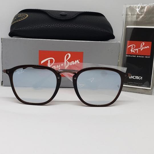 Ray Ban Mirrored Lens Women Square Sunglasses Image 2