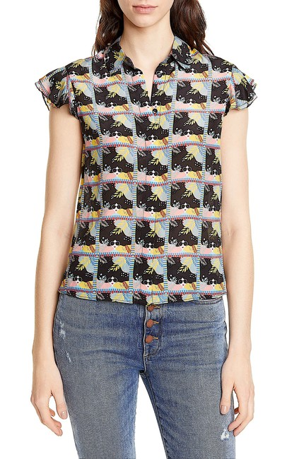 Alice + Olivia Button Down Shirt multi with tag Image 7