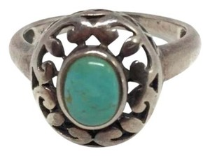 other Vintage Sterling Silver Openwork Turquoise Ring