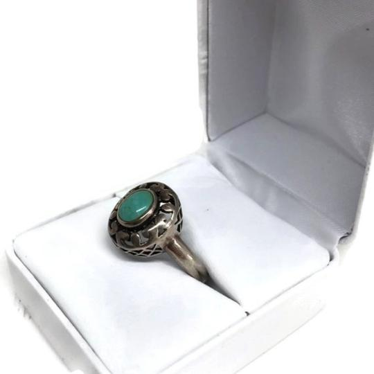 other Vintage Sterling Silver Openwork Turquoise Ring Image 2