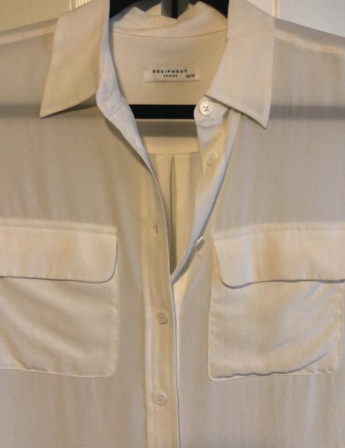 Equipment Button Down Shirt Ivory Image 1