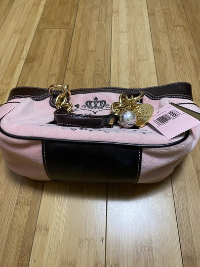 JUICY COUTURE PINK NARDELS BABY FLUFFY VELOUR BAG Tote in PINK Image 4