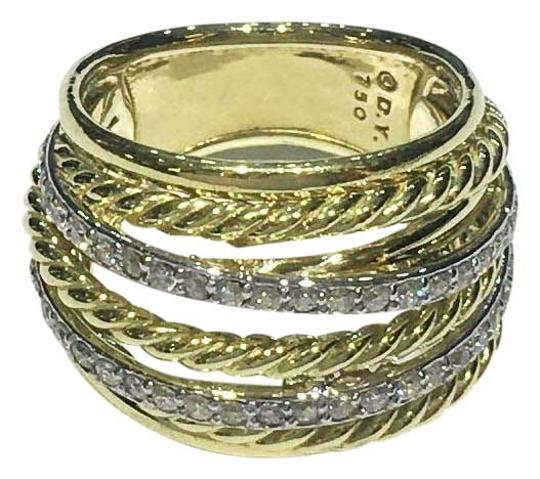 Preload https://img-static.tradesy.com/item/26607255/david-yurman-yellow-gold-crossover-18k-with-diamonds-wide-ring-0-1-540-540.jpg