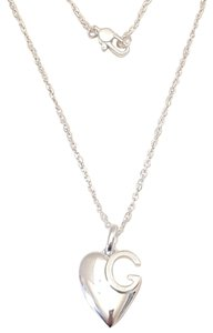 Gucci Gucci sterling silver G Charlotte heart 16in necklace