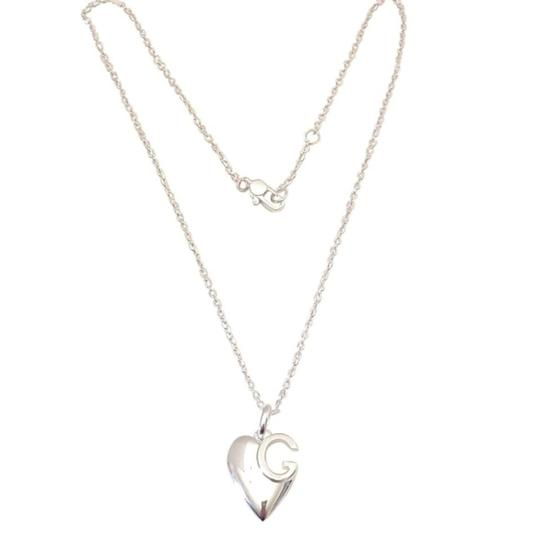 Gucci Gucci sterling silver G Charlotte heart 16in necklace Image 2