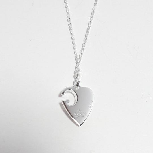 Gucci Gucci sterling silver G Charlotte heart 16in necklace Image 4