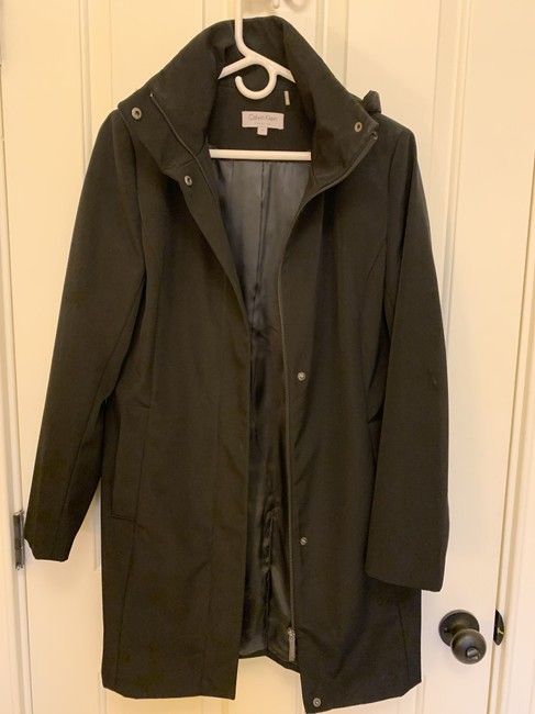 Calvin Klein Structured Hooded Raincoat Image 2