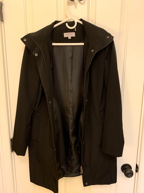 Calvin Klein Structured Hooded Raincoat Image 4