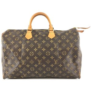 Louis Vuitton Lv Speedy 40 Monogram Satchel in Brown