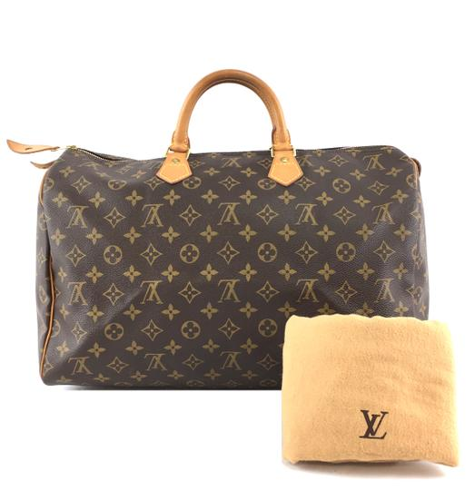 Louis Vuitton Lv Speedy 40 Monogram Satchel in Brown Image 1