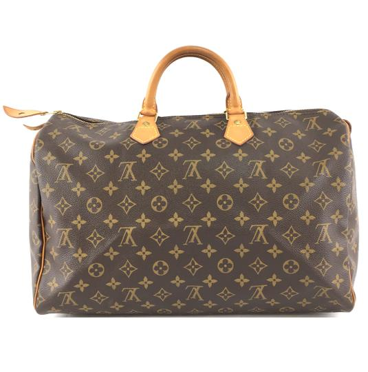 Louis Vuitton Lv Speedy 40 Monogram Satchel in Brown Image 2