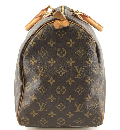 Louis Vuitton Lv Speedy 40 Monogram Satchel in Brown Image 7