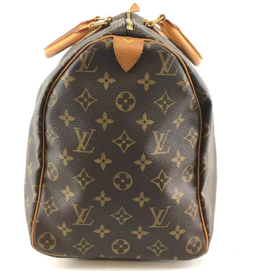 Louis Vuitton Lv Speedy 40 Monogram Satchel in Brown Image 8