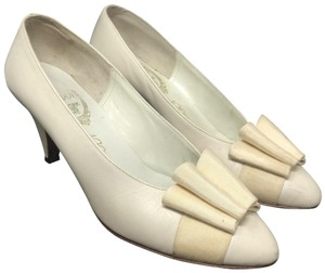 Delman Nightout Lowheels Cocktail Wedding Cream Pumps