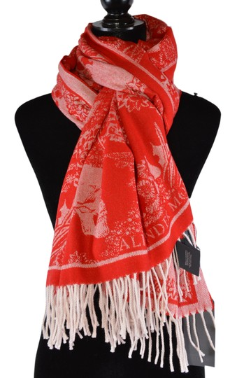Alexander McQueen New Alexander McQueen Large Wool Cashmere Dreaming Skull Scarf Wrap Image 1