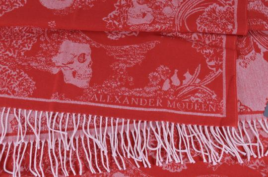 Alexander McQueen New Alexander McQueen Large Wool Cashmere Dreaming Skull Scarf Wrap Image 2