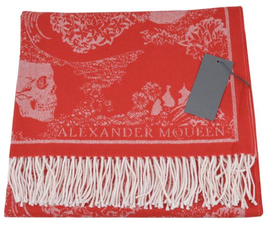 Alexander McQueen New Alexander McQueen Large Wool Cashmere Dreaming Skull Scarf Wrap Image 3