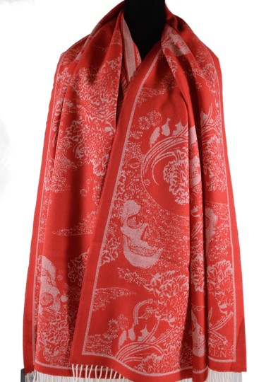 Alexander McQueen New Alexander McQueen Large Wool Cashmere Dreaming Skull Scarf Wrap Image 4
