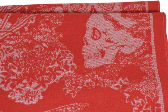 Alexander McQueen New Alexander McQueen Large Wool Cashmere Dreaming Skull Scarf Wrap Image 6