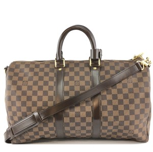 Louis Vuitton Keepall Bandouliere Damier 45 brown Travel Bag