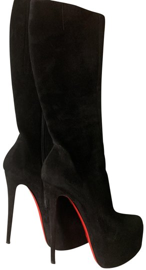 Christian Louboutin Black Suede Boots Image 0