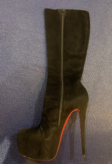Christian Louboutin Black Suede Boots Image 1