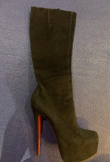 Christian Louboutin Black Suede Boots Image 4