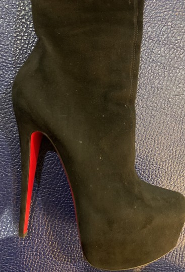 Christian Louboutin Black Suede Boots Image 5