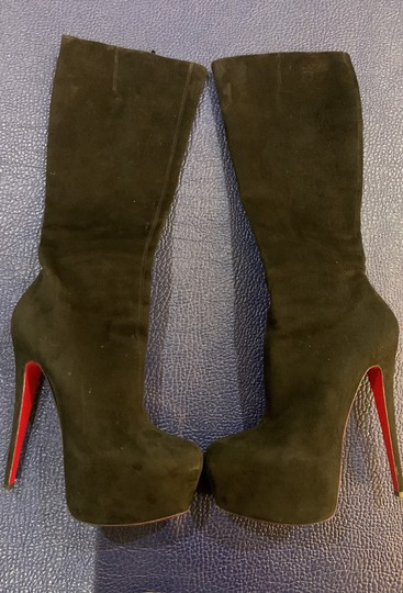 Christian Louboutin Black Suede Boots Image 6