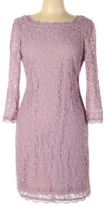 Adrianna Papell Lace Sheath Scalloped Dress