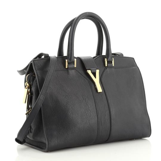 Saint Laurent Leather Tote in Blue Image 1