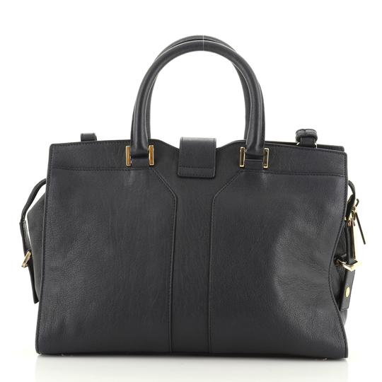 Saint Laurent Leather Tote in Blue Image 2