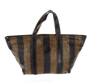 Fendi Vintage Italy Cosmetics Travel Tote in Brown and Black