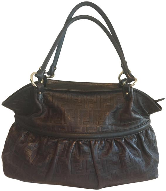 Item - Xxlg Zucca Chef Deep Lush Brown Lambskin Leather Shoulder Bag