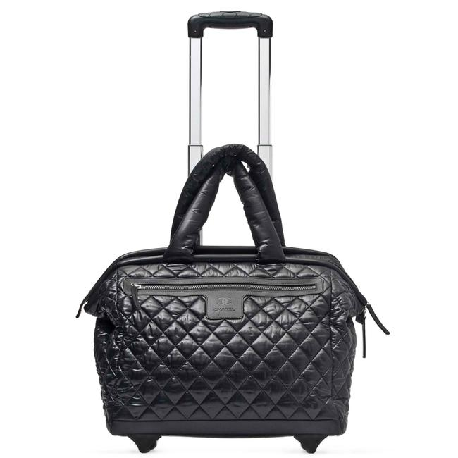 Item - Cocoon Coco Quilted Case Trolley Luggage Rollerboard Black Nylon Weekend/Travel Bag