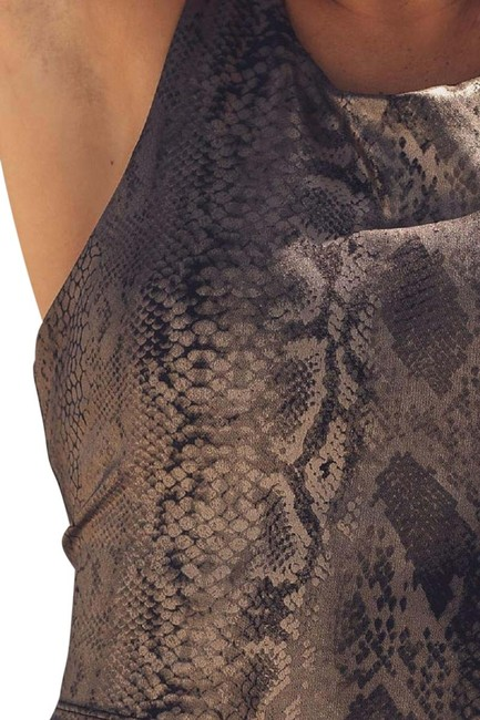Item - Copper Browns Snake Print Performance Activewear Top Size 12 (L)