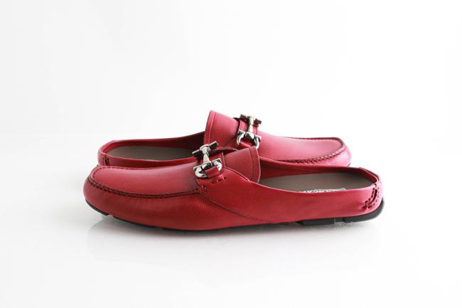 Item - Red Pomegranate Duca Leather Backless Drivers Shoes