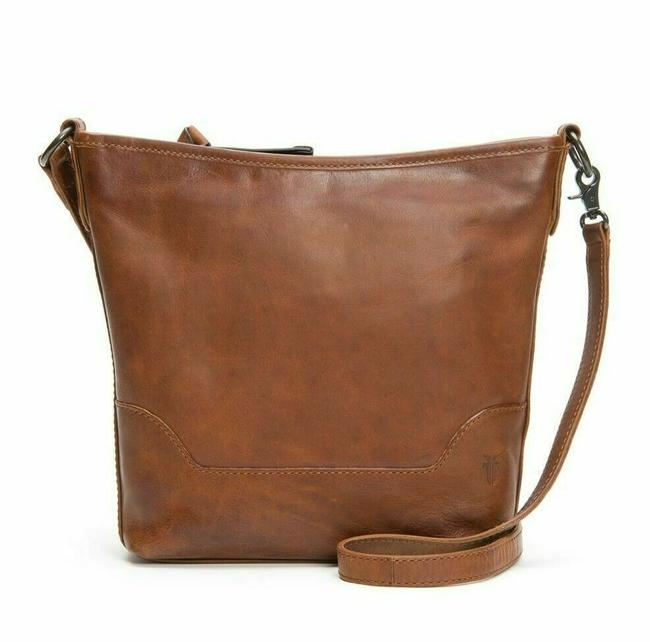 Frye Hobo Melissa Small Cognac Brown Leather Cross Body Bag Frye Hobo Melissa Small Cognac Brown Leather Cross Body Bag Image 1