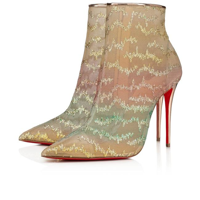 Item - Pink Nancy 100 Multicolor Glitter Mesh Stiletto Ankle Heel Boots/Booties Size EU 38 (Approx. US 8) Regular (M, B)
