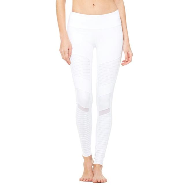 Item - White Moto Pants Activewear Bottoms Size 0 (XS)
