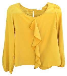 Pearl Collection Top Mustard