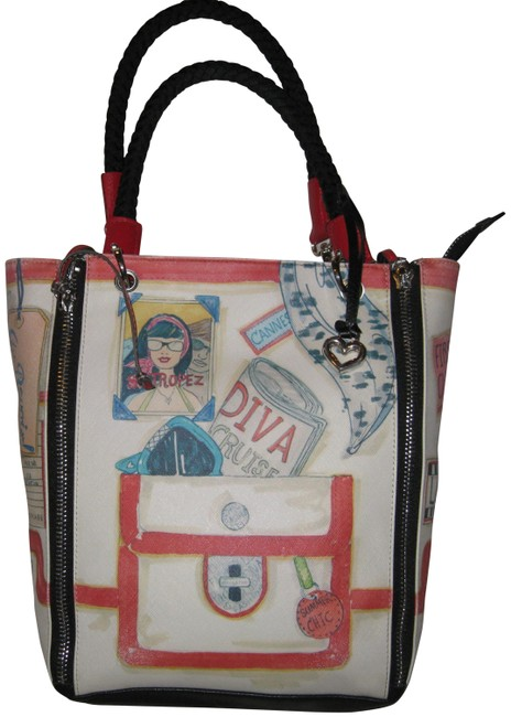 Item - Collectible Diva Cruise Multi Color Leather and Canvas Shoulder Bag