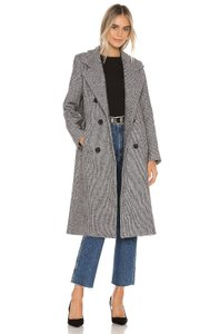 ASTR Oversized Houndstooth Chanel Longline Pea Coat
