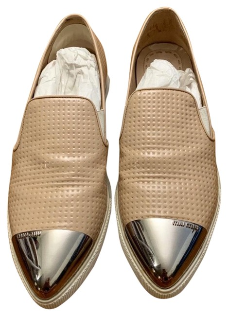 Item - Pink Patent Leather Slip On Loafer Flats Size US 7 Regular (M, B)