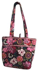 Vera Bradley Tote in Pink, Teal, Mint Green, Brown, White